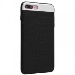 Чехол Top & Bottom Metal Leather для Apple iPhone 5, Design 1