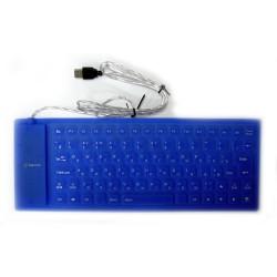 Клавиатура резиновая гибкая DK-5085 USB, (английская), black