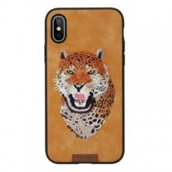 Чехол Rock Space Beast Series Embroidery для Apple iPhone Xs, Lion
