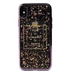 Чехол Polo Glory Series Leather для Apple iPhone X, Rose Gold