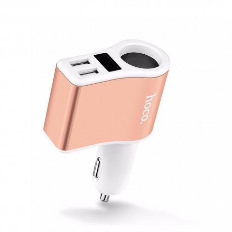 АЗУ Hoco Z10 Digital display with Lighter , черно- золотой