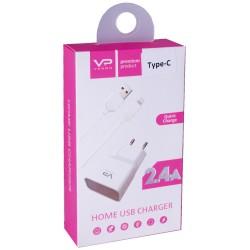 Зарядное устройство Veron AD-19 Quick charge 3.0, (Type C) 1 USB, White