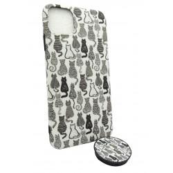 Чехол IPhone 11 Pro Max + Попсокет Cats
