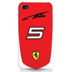 Чехол Ferrari Alonso N°5 для iPhone 4, red