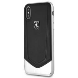 Чехол Ferrari Heritage Aluminium V Stripe Hard для iPhone X, black