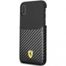 Чехол Ferrari Heritage 488 Genuine Leather Hard для iPhone 7, black